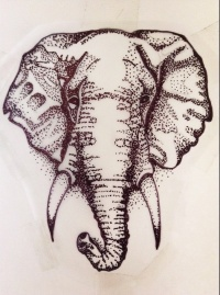 Simple elephant head tattoo - photo#18
