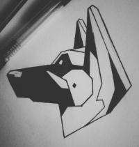 german shepherd tattoo designs. Black Bedroom Furniture Sets. Home Design Ideas