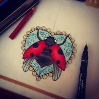 Ladybug tattoo designs for Ladybug heart tattoos
