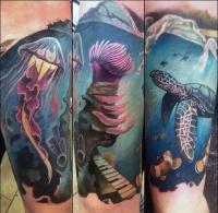 Pretty Jellyfish Tattoos