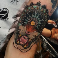 Lion tattoos for Neo japanese tattoo