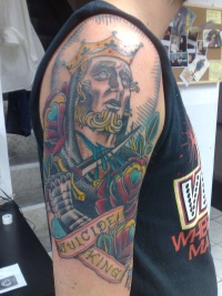 Gambling tattoos images for Suicide kings tattoo