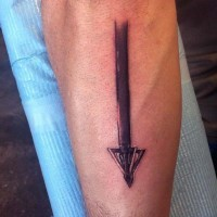 3D like awesome detailed arrow head tattoo on arm
