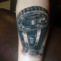 3D incredibile pezzo meccanico tatuaggio su braccio
