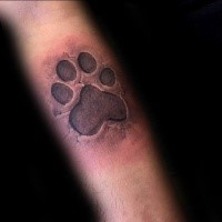 3D style very detailed animal paw print