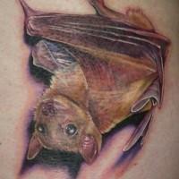 3D sehr detailliertes natürlich aussehendes Fledermaus Tattoo