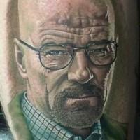 Tatuaje  de héroe famoso muy realista
