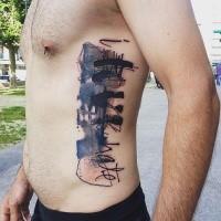 Tatuaje de letras abstracto de Minervas Linda