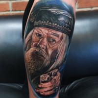 Albus Dumbledore portrait tattoo