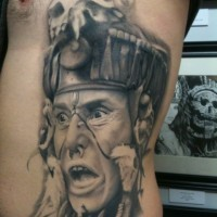 Realistic American Indian shaman tattoo