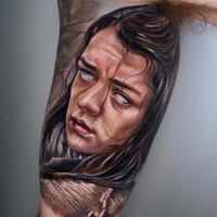Arya Stark from Game of Thrones tattoo
