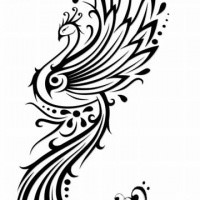 Peacock tattoo designs black and white for Peacock tattoo black and white