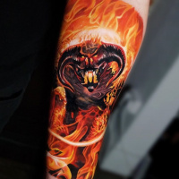 Awesome Balrog from Lord of the Rings tattoo
