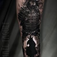 Awesome Samurai tattoo on arm