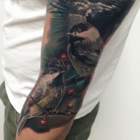 Birds tattoo on arm