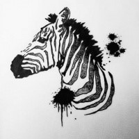 cool tribal zebra muzzle tattoo design. Black Bedroom Furniture Sets. Home Design Ideas
