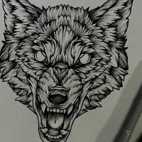 Wolf Head Tattoo Design