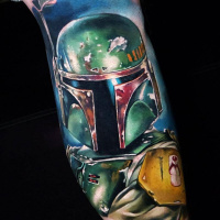Boba Fett from Star Wars tattoo