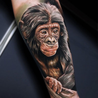 Cool Baby Chimpanse tattoo