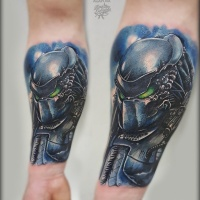 Cool Predator tattoo on forearm