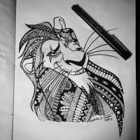 cool uncolored roaring lion profile portrait tattoo design. Black Bedroom Furniture Sets. Home Design Ideas