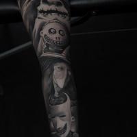 Cute Oogie Boogies Kids arm sleeve tattoo