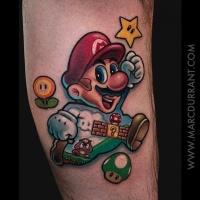 Cute Super Mario tattoo