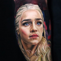 Daenerys Stormborn, Mother of Dragons from Games of Thrones tattoo