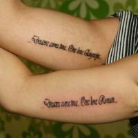 Tatuajes en los brazos, cita sueños se hacen realidad
