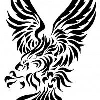 awesome tribal eagle tattoo design by scarlet spectrum. Black Bedroom Furniture Sets. Home Design Ideas