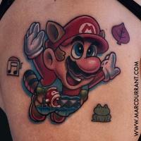 Funny Super Mario tattoo