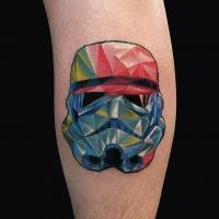 Geometric stormtrooper fun tattoo