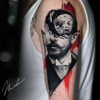 George Méliès tattoo on shoulder