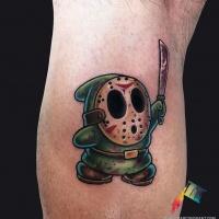 Halloween theme cartoon style tattoo
