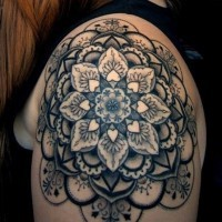 Tatuaje En El Hombro Mandala Floral Linda Tattooimagesbiz