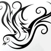 lovely surprised tribal chameleon tattoo design. Black Bedroom Furniture Sets. Home Design Ideas