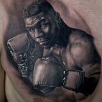 Mike Tyson tattoo on chest