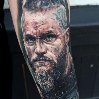 Ragnar from Vikings movie tattoo