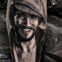 Realistic Bruce Springsteen tattoo