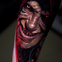 Realistic Darth Sidious tattoo3