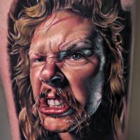 Realistic James Hetfield from Metallica tattoo3