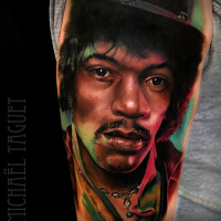 Realistic Jimi Hendrix tattoo3
