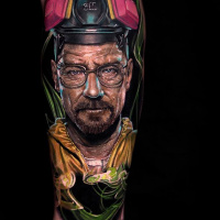 Realistic Walter White tattoo3