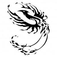 Simple Brave Black Tribal Style Phoenix Tattoo Design Tattooimagesbiz