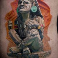 Statue of Aztec God Xochipilli tattoo