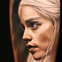 Super realistic Daenerys tattoo