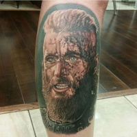 Very realistic viking tattoo by Sarah Miller