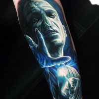 Voldermort from Harry Potter tattoo