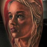 Acquerello ritratto del tatuaggio Daenerys