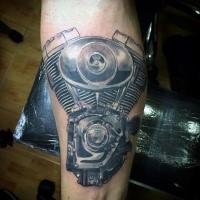 100 black ink car tattoo on rod arm tattoo black for Tattoo shops in waco tx